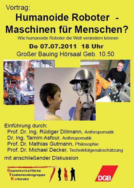 Plakat humanoide Roboter