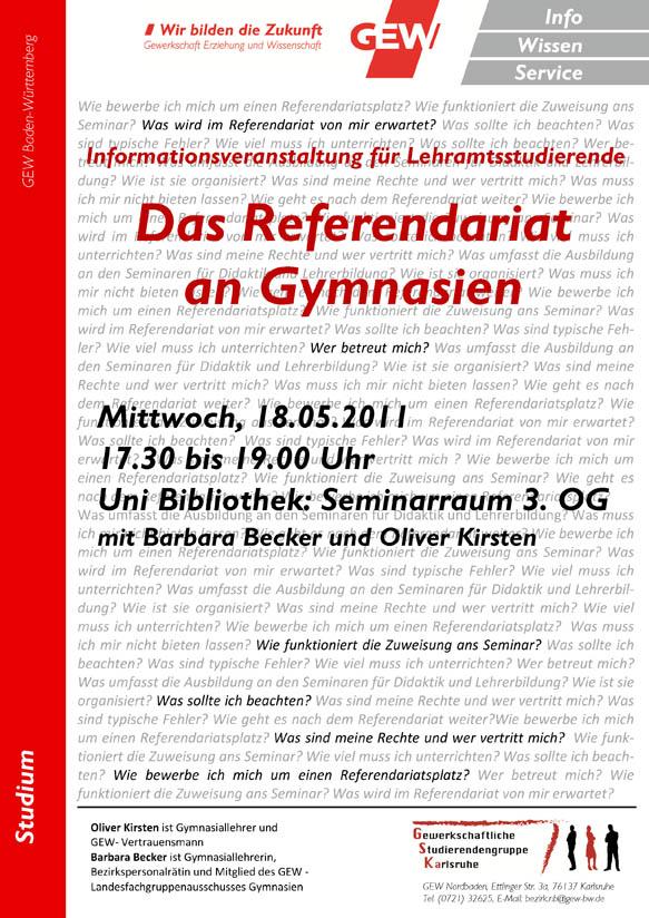 Referendariatsveranstaltung 2011_05_18