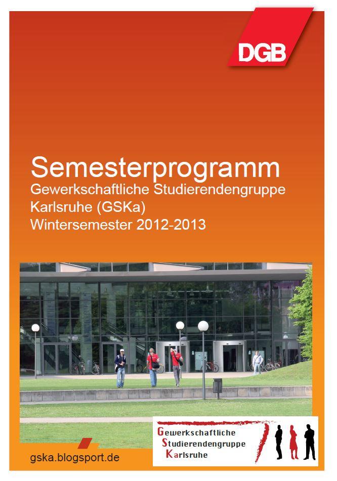 Semesterprogramm Deckblatt