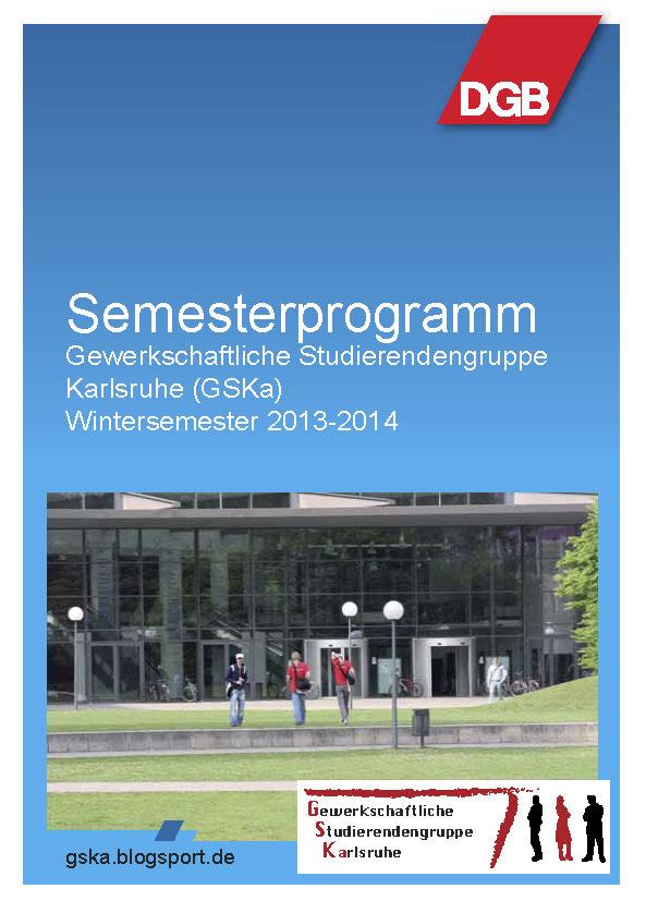Deckblatt Semesterprogramm WS2013