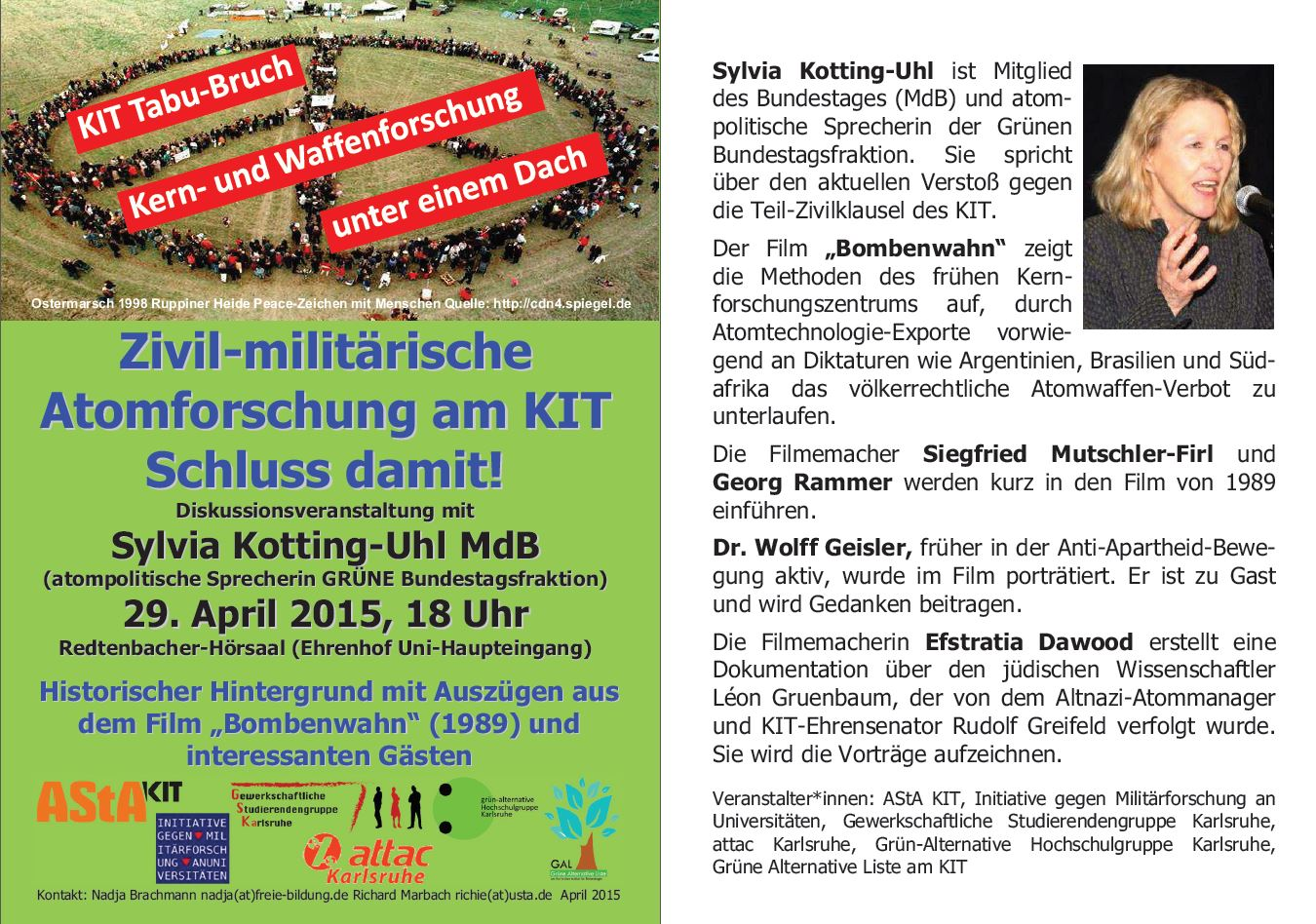 Zivil-militärische Atomforschung am KIT