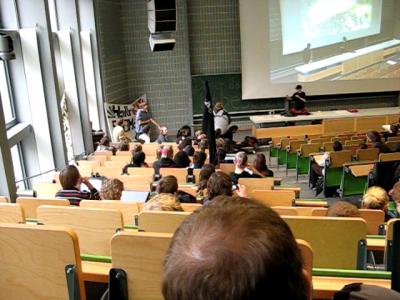 Hörsaal Besetzung in Karlsruhe